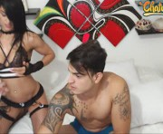 new fitness couple here! #new #hot #cum #sex's couple webcam room
